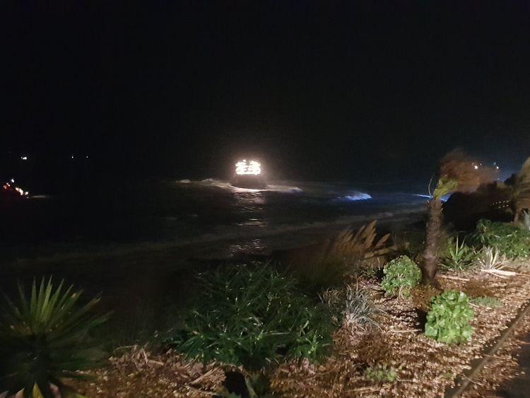 Ship aground. Pic: Ian Cocklin