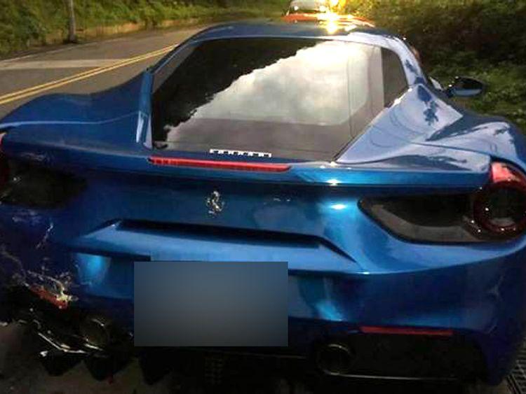 Taiwan Ferrari crash