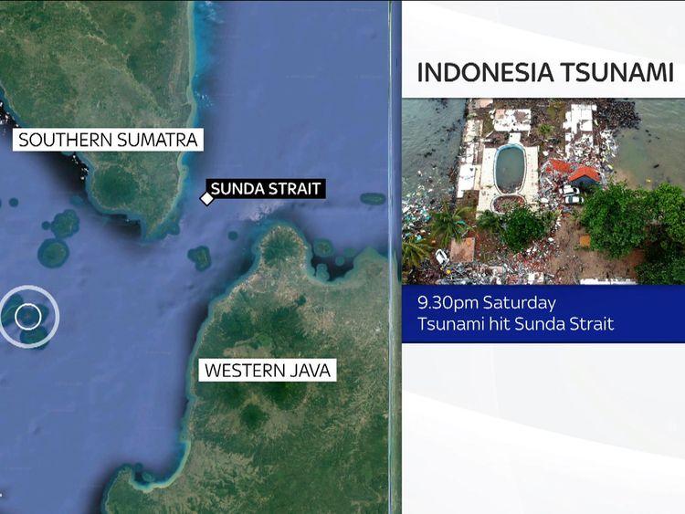 Indonesia tsunami: 222 dead after volcanic eruption