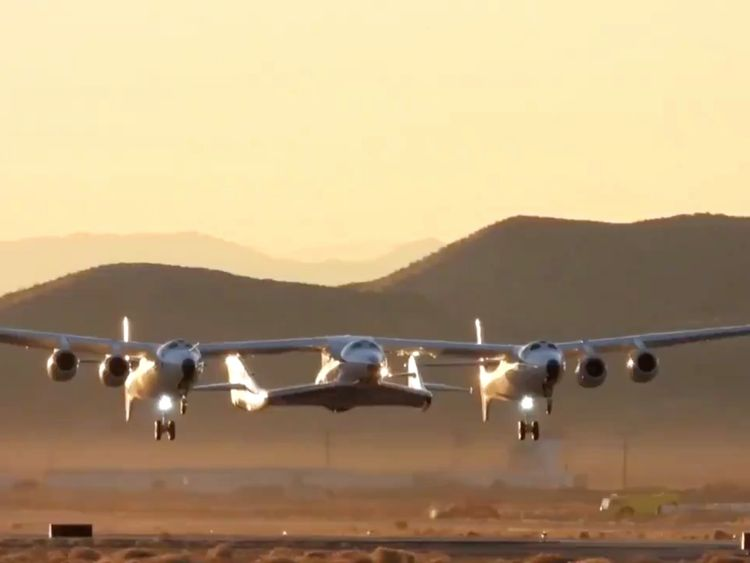The VSS Unity took off the Mojave Desert early on Thursday