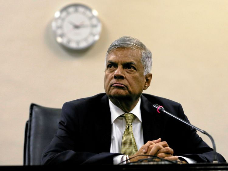 Mr Wickremesinghe said his removal was unlawful