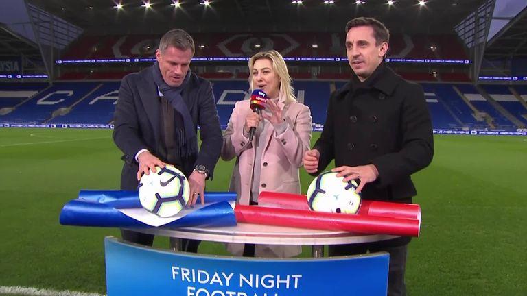 WATCH: Gary Neville and Jamie Carragher's wrap battle! | Football News |
