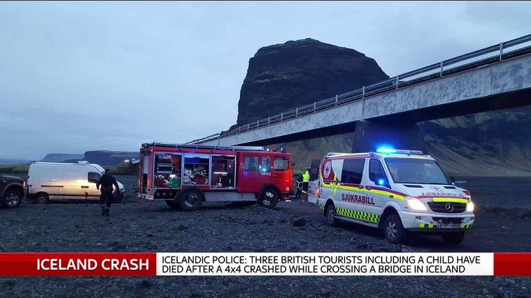 Scene of Iceland car crash