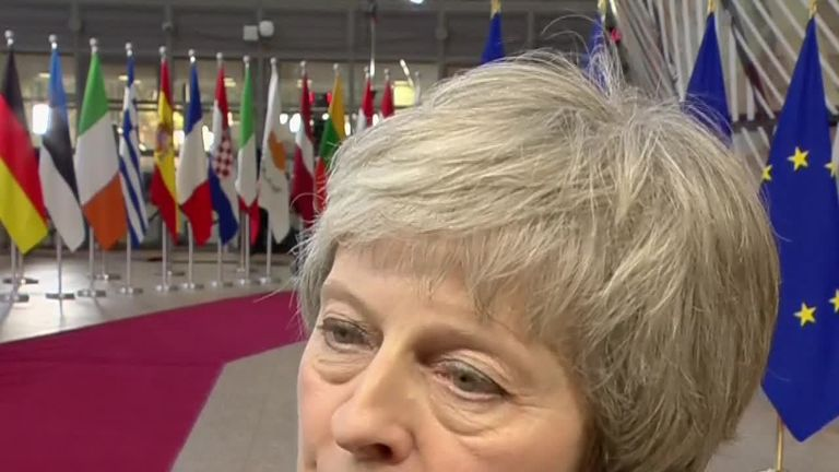 Theresa May says she doesn't expect an immediate breakthrough as she arrives in Brussels