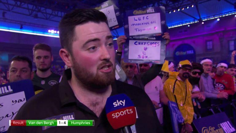 Luc Van Den Bergh.Humphries Win Was A Slog Video Watch Tv Show Sky Sports