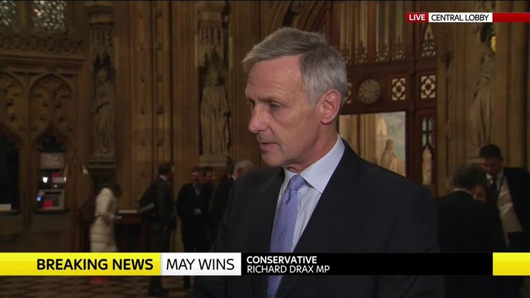 "Tory MP Richard Drax told Sky News: ""I think this is bad for the prime minister. But this is not about her personally, it's about Brexit."