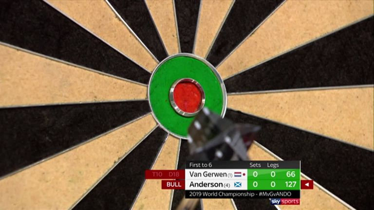 michael van gerwen beats gary anderson and will face michael smith