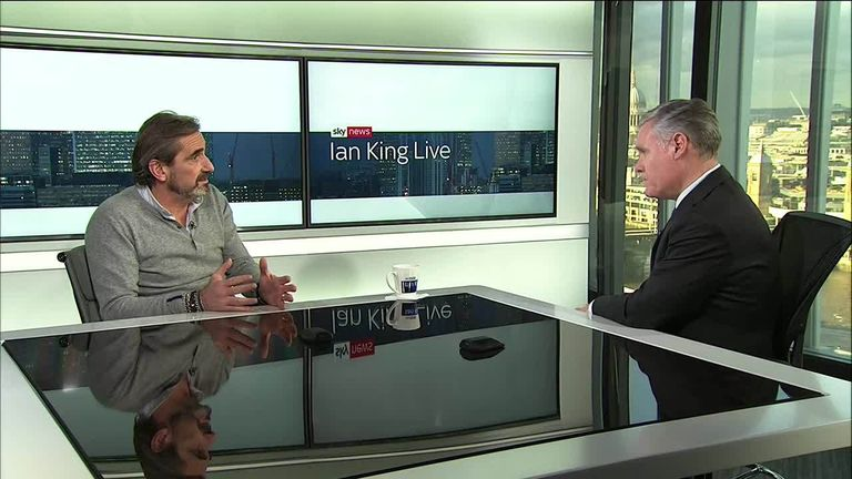 Superdry co-founder Julian Dunkerton speaks to Sky's Ian King