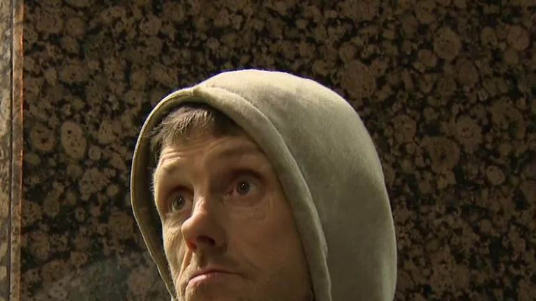 Homeless people in Manchester have told Sky News about their experiences sleeping rough