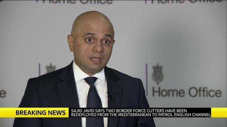 sajid javid responds to migrants on kent boarder