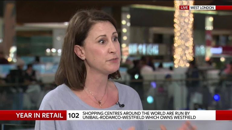 Myf Ryan, chief marketing officer for Westfield owner, talks to Sky's Ian King