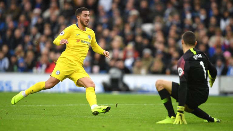 Highlights from Chelsea's 2-1 win over Brighton in the Premier League.