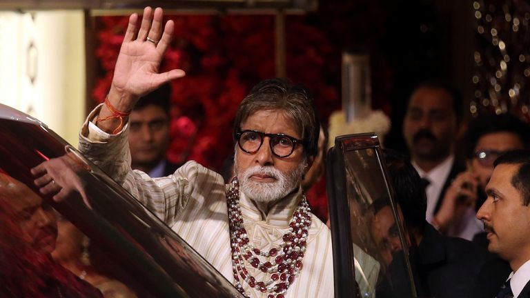 Amitabh Bachchan was among the famous faces at the wedding