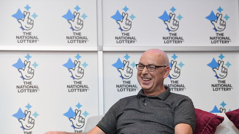 Andrew Clark, 51, from Boston, Lincolnshire, almost missed out on his lottery jackpot