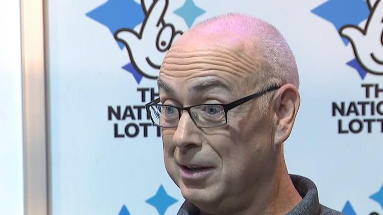 Andrew Clark found he had won £76M on the lottery with an old ticket he left in his van