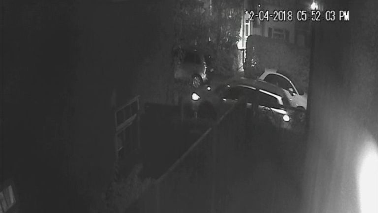 Police are asking the driver of this car to get in touch as they passed the suspects. Pic: Met Police