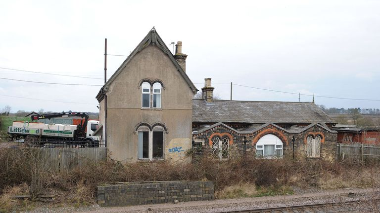Great Glen railway station closed in 1964 following the Beeching Report