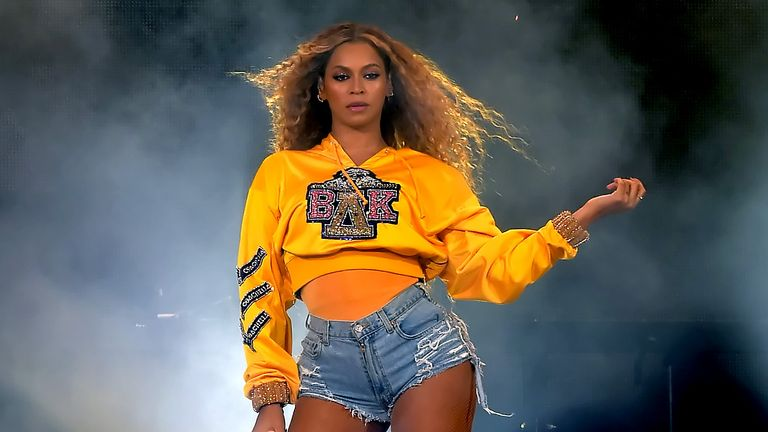 Beyonce performed at the Global Citizen Festival: Mandela 100 music festival