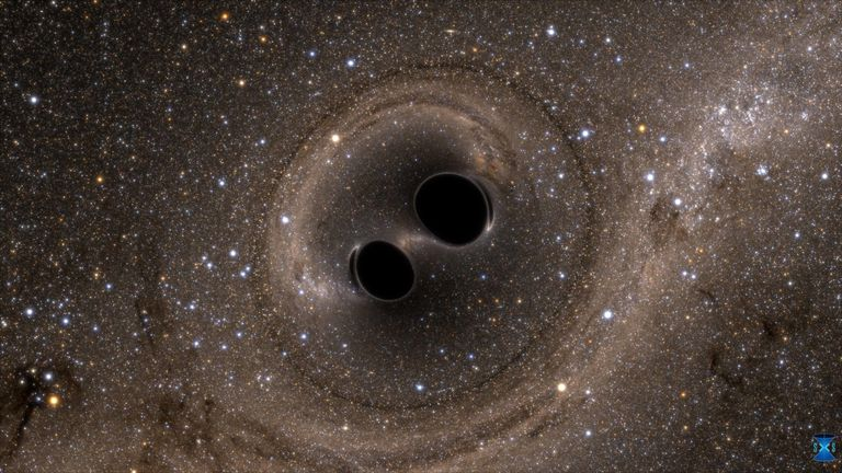 Artist's impression of two black holes merging. Credit: SXS