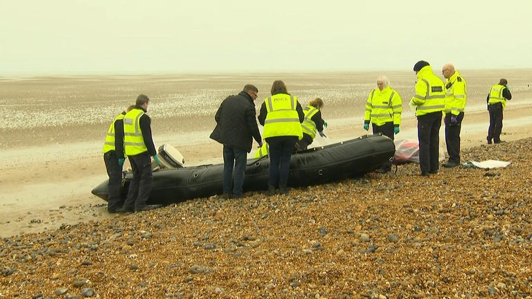 Boat on Lydd-on-Sea beach