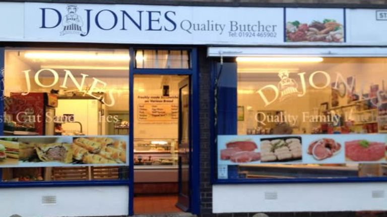David Jones runs a popular butcher in Dewsbury