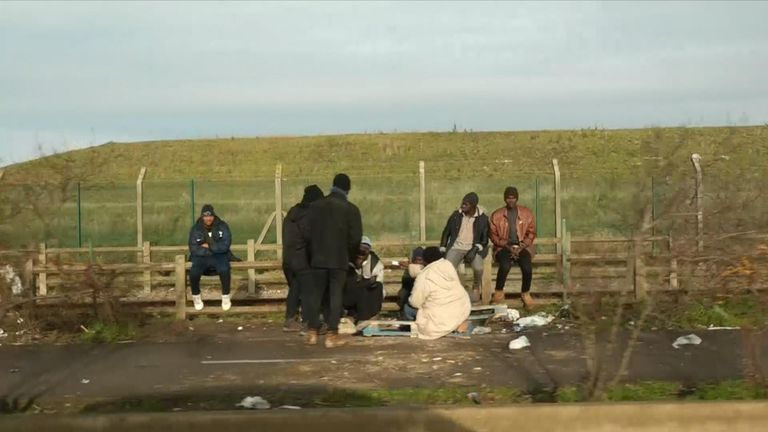 Migrants remain in Calais in huge numbers despite the destruction of the so-called Calais jungle two years ago