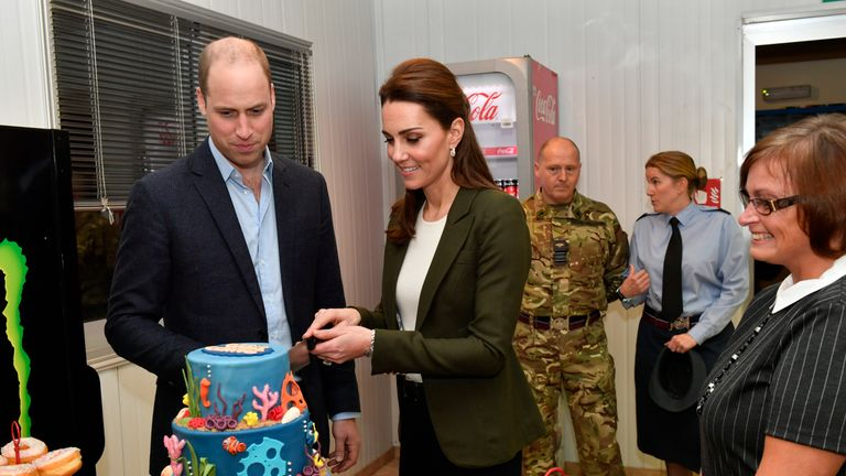 The Duke and Duchess of Cambridge officially open the Oasis Centre at RAF Akrotiri in Cyprus