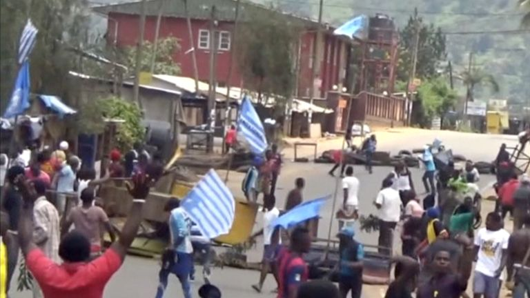 The English-speaking community in Cameroon have held numerous protests over alleged discrimination
