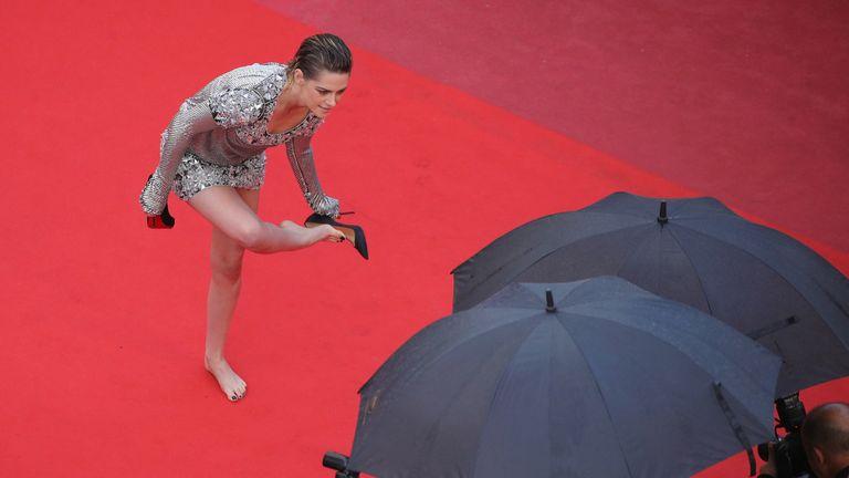 Jury member Kristen Stewart attends the screening of 'Blackkklansman' during the 71st annual Cannes Film Festival at Palais des Festivals