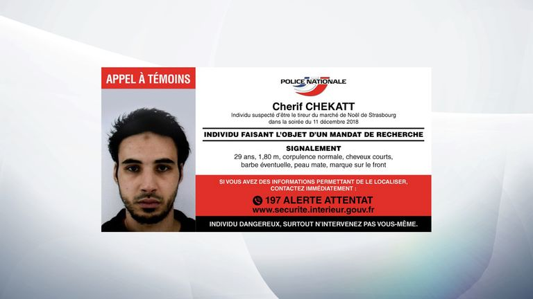 French police released the wanted poster of the suspect