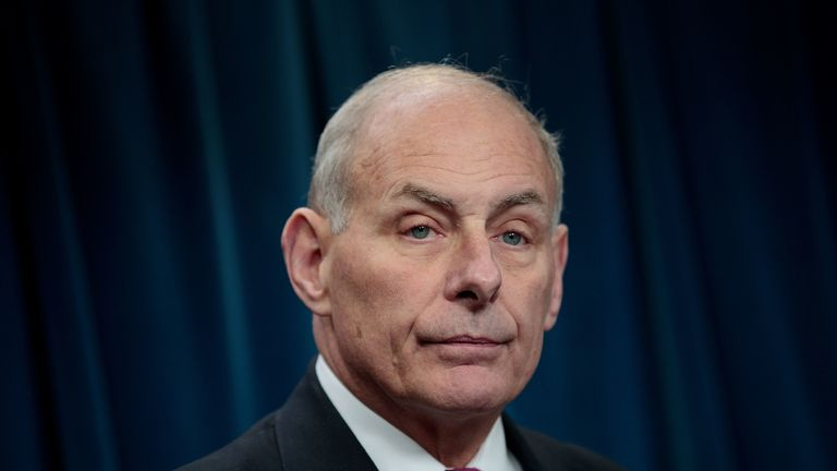 John Kelly has been chief of staff since July 2017