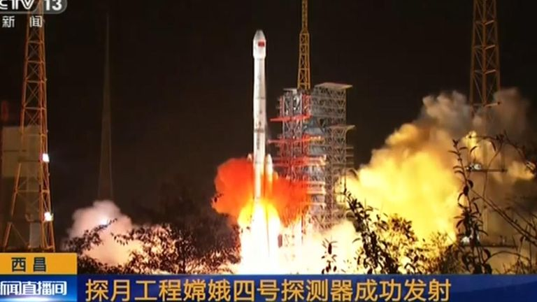 China launches rocket to moon's far side