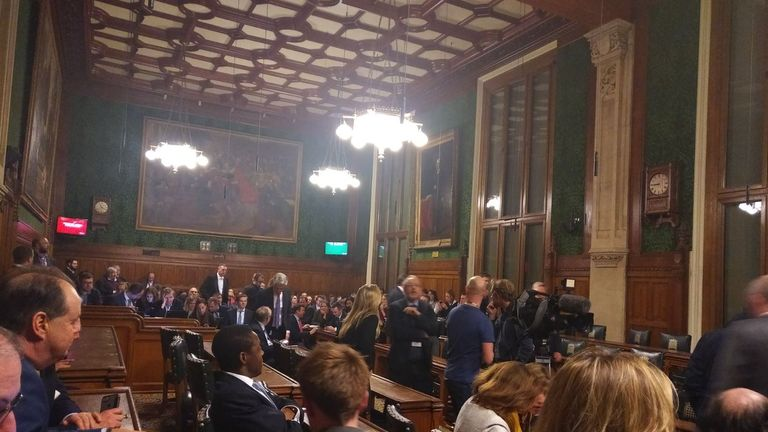 Inside the committee room ahead of the confidence vote announcement. Pic: Robert Halfon MP