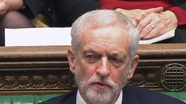 Jeremy Corbyn appears to call Theresa May 'stupid woman'