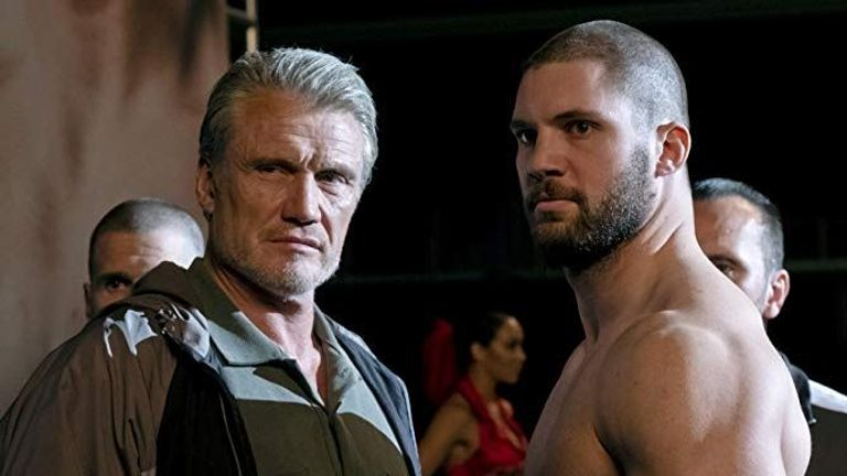 Dolph Lundgren and Florian Munteaunu in Creed II