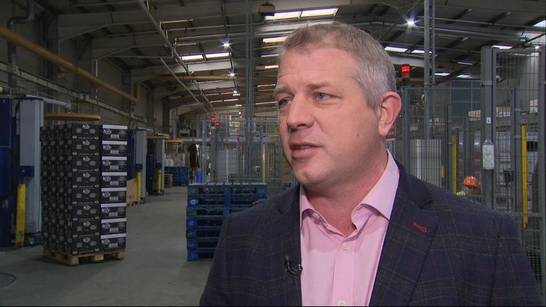 Kettle Foods managing director Ashley Hicks says some production may move abroad if there is a hard Brexit