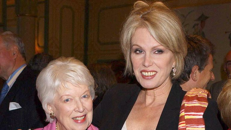 Dame June Whitfield and Joanna Lumley
