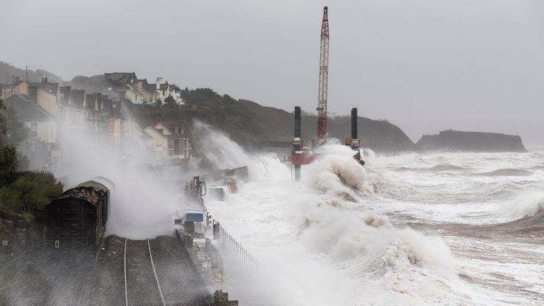 The Met Office has warned that the wet and windy weather could bring large waves to coastal areas