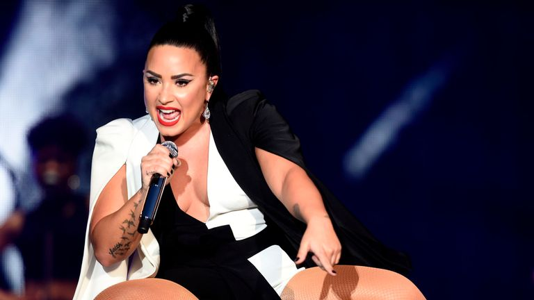 Demi Lovato said she is sober and grateful to be alive