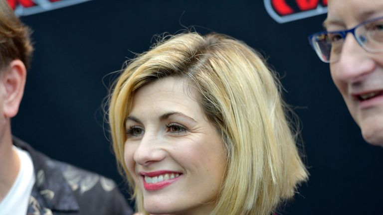 Jodie Whittaker attends the Dr. Who Press Room during 2018 New York Comic Con - Day 4 at on October 7, 2018 in New York City