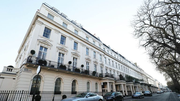 Eaton Square in Westminster, London