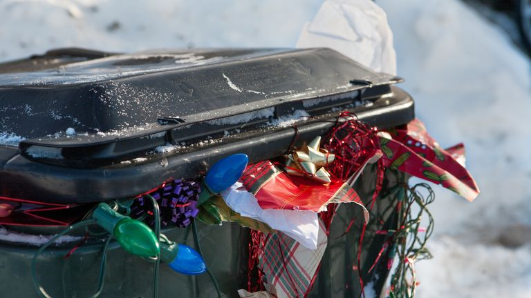 Christmas wrapping paper and plastic ends up in landfill