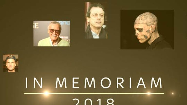 We take a look back at those we've lost in 2018