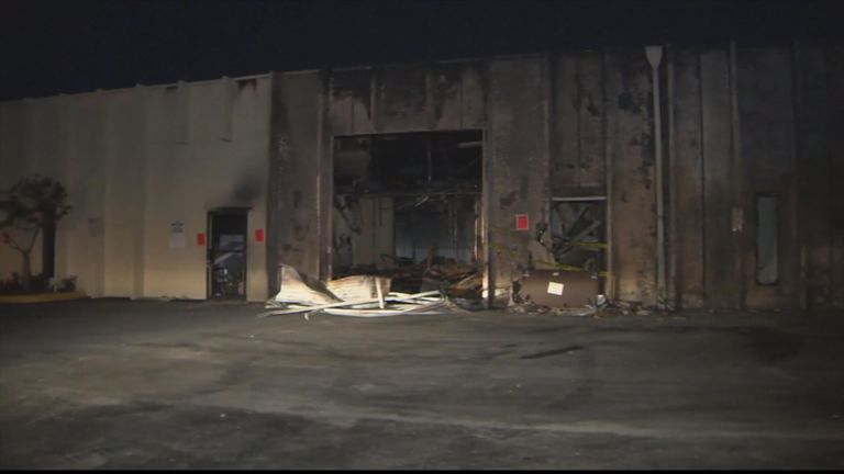 The building suffered major damage