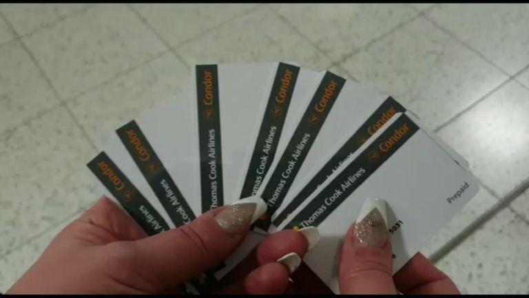 The vouchers had no money on them. Pic: Sarah Garghan-Watson