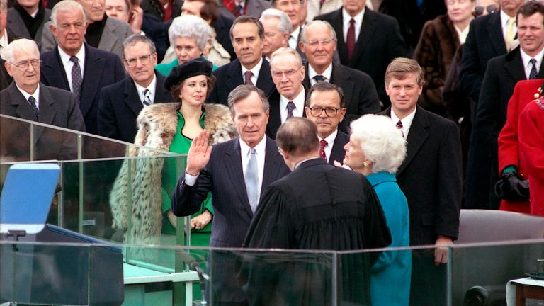 George HW Bush inauguration