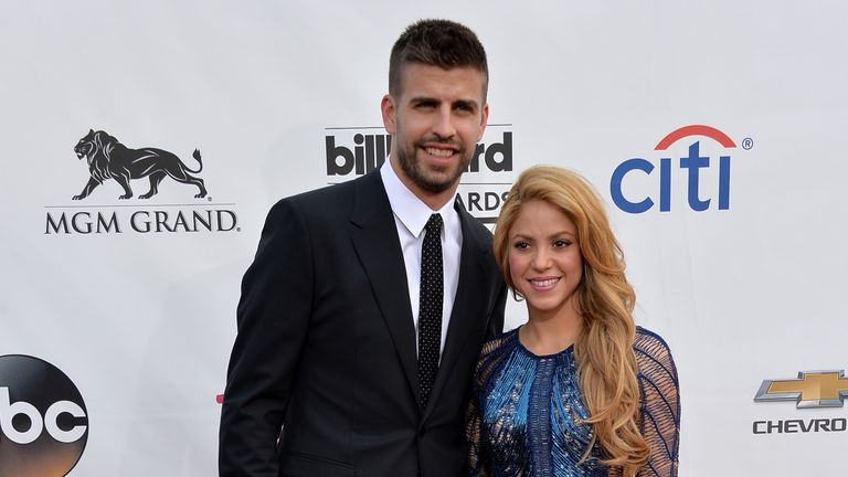 Shakira is with Spanish defender Gerard Pique