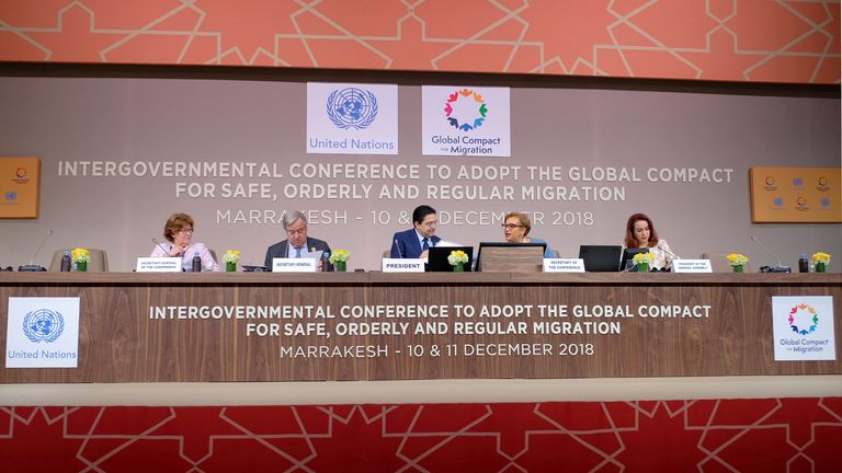 The global compact was signed in Marrakesh