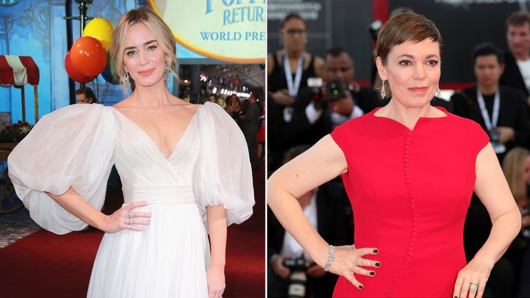 Emily Blunt (L) and Olivia Colman are among the nominees