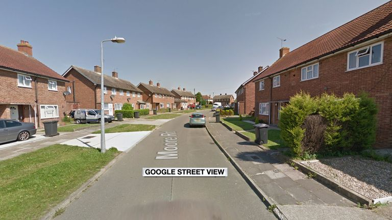 The men were found stabbed at a property in Moore Road